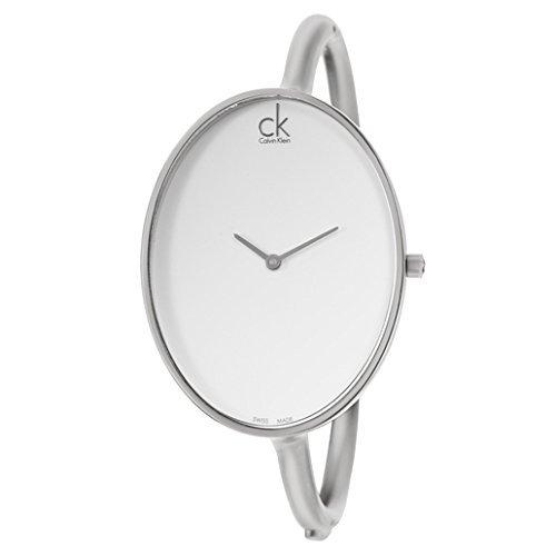 Calvin Klein Sartoria White Dial Stainless Steel Bangle Ladies Watch K3D2M116 Calvin Klein Womens White Dial