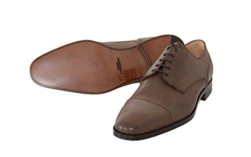 Sutor Mantellassi 6 1/2 Brown Leather Derby Blucher Toe Cap Lace Up Dress Shoe Zv2xjHb