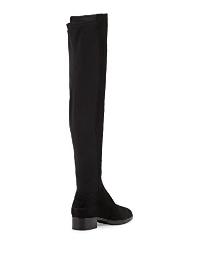 Image of the Tory Burch Caitlin Stretch Suede Over-The-Knee Boot, Black (6.5)