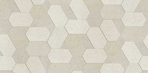(Advantage 2835-C88604 Plaza Cream Geometric Wallpaper,)