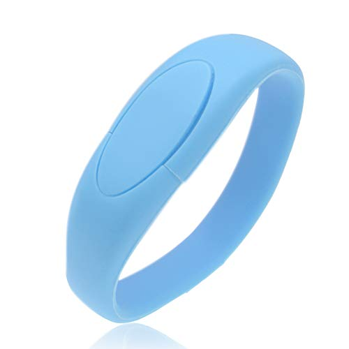 - 16GB USB 3.0 Flash Drive Bracelet Thumb Drive, Soft Silicon Jump Drive Wristband Zip Drive, Kepmem High Speed USB Stick, Blue