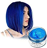 Vakker Mofajiang Hair Wax Color Styling Cream Mud, Natural Hairstyle Dye Pomade, Party Cosplay, Blue