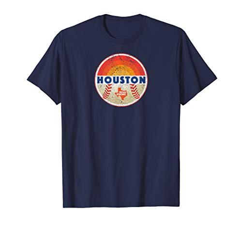 (Vintage Retro Houston Texas Strong Baseball T-Shirt )