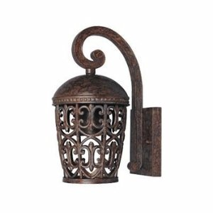 Designers Fountain 97591-BU Amherst Collection 1-Light Dark Sky Exterior Wall Lantern, Burnt Umber - Wall Outdoor Amherst