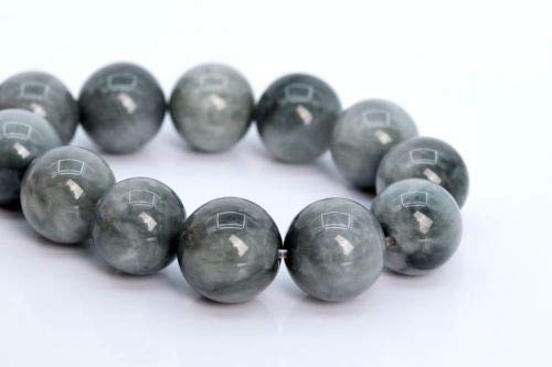 11mm Genuine Natural Light Gray Chrysoberyl Cat Eye Round Loose Beads 7.5'' Crafting Key Chain Bracelet Necklace Jewelry Accessories Pendants -