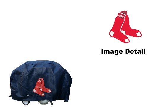 (Boston Red Sox MLB Team Logo Game Day Chef Food BBQ Barbeque Grill Cover)