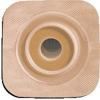 Sur-fit Natura Stomahesive Flexible Pre-cut Wafer 4'' x 4'' Stoma 3/4''