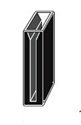 Customized Micro Quartz Cuvette, Black Wall, 3cm Lightpath 2.1ml, 2mm Slit, 30mm Lightpath,cuvettes, Cell