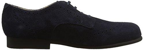 Start-Rite Charles, Zapatos de Cordones, Niños Azul (Navy Suede)