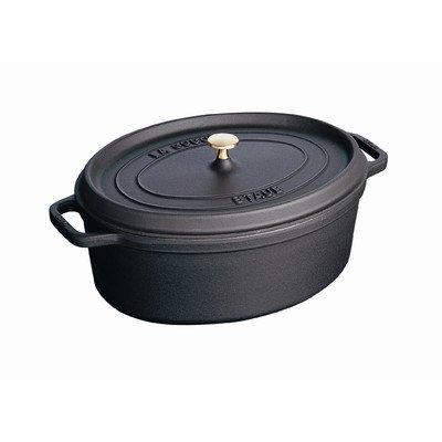Staub 1103725 Oval Cocotte Oven, 8.5 quart, Matte Black