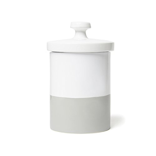 Waggo Dipper Ceramic Treat Jar Light Grey, One Size