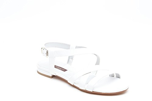 L amour sandali bassi in vernice bianco