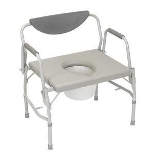 Drive Medical Deluxe Bariatric Drop-arm Commode 23'' H x 23'' W x 18-1/2'' D