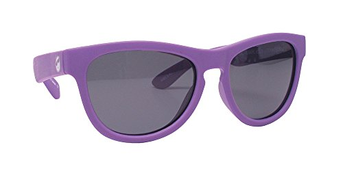 Minishades Polarized Classic Kids Sunglasses, Grape Jelly Frame/Polarized Grey - Girls Ray Bans On