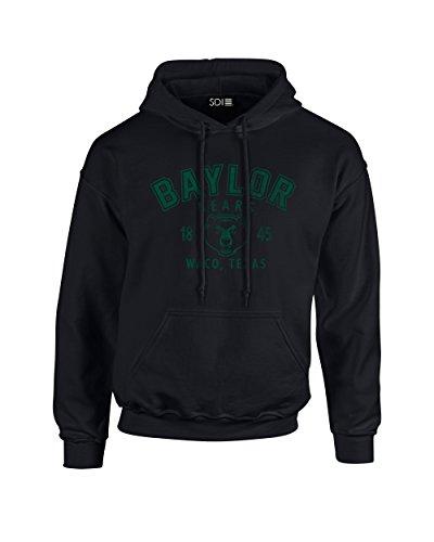 NCAA Baylor Bears Arch 50/50 Blended 8 oz Hooded Sweatshirt, X-Large, Black (Bear Black Hooded Sweatshirt)