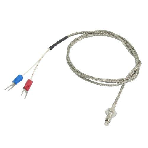 Uxcell a13032000ux0383 K Type Nylon Braided 800 C 6 mm Screw Thermocouple Temperature Sensor, 1 m, 3.3'