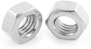 VNDEFUL 50 Pieces 304 Stainless Steel Female Thread Hex Screw Nut Fastener,M3