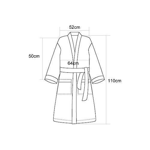 Casual L Dimensioni Cotton Luxury Sauna E Nero Spa Servizio Family Pigiama Unisex Nero Tasche Accappatoi colore BqYTc6OW