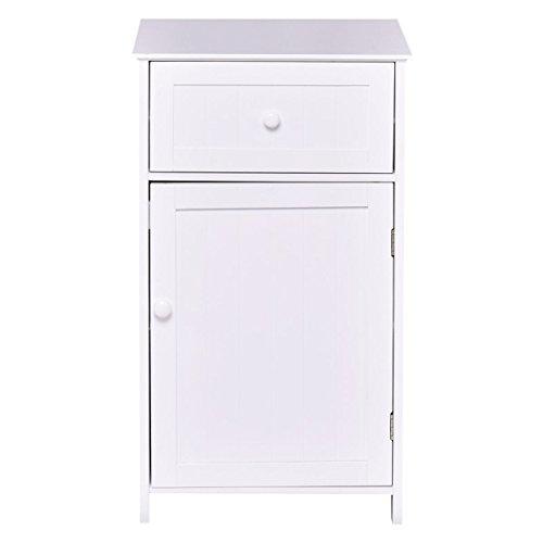White Storage Cabinet Bathroom Organizer