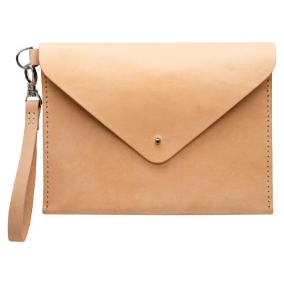 - Realeather C4572-00 DIY Envelope Clutch Purse Kit, Natural