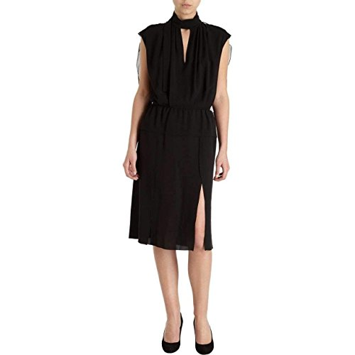 Nina Ricci Silk Black Voile Blouson Sleeveless Cocktail Dress Silk Voile Dress