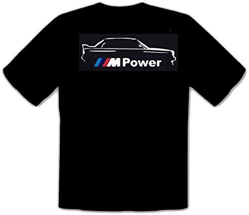 M. Power BMW AUTO FUN Schwarze T-SHIRT -060