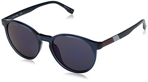 Lacoste Unisex L874s Color Block Round Sunglasses, Blue, 52 mm