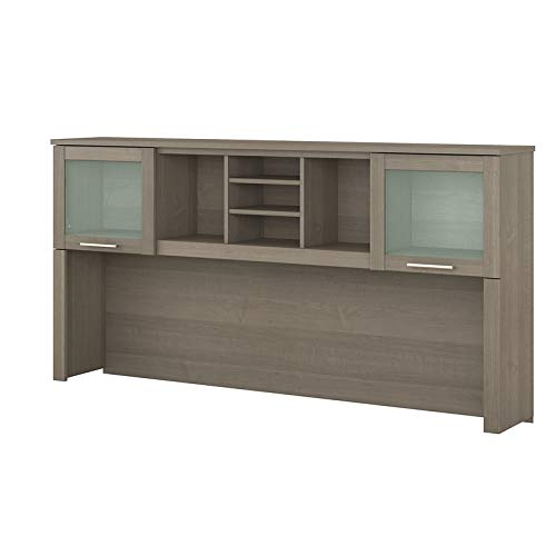 Bush Furniture Somerset 72W Hutch for L Shaped Desk in Ash Gray ()