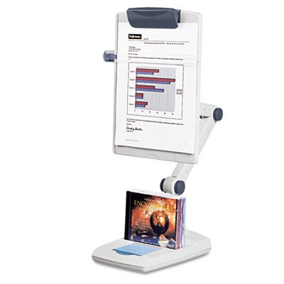 Fellowes : Weighted Flex Arm Desktop Copyholder, High-Impact Plastic, Platinum/Graphite -:- Sold as 2 Packs of - 1 - / - Total of 2 -