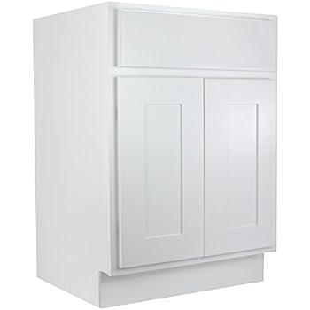 Cabinet Mania White Shaker 30 Inch Bathroom Vanity Single