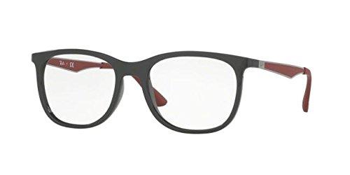 Ray-Ban Men's RX7078 Eyeglasses Shiny Grey - Glasses Rayban Optical
