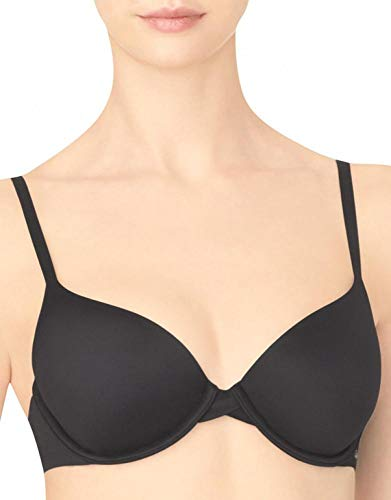 Calvin Klein Women's Perfectly Fit Lightly Lined Memory Touch T-Shirt Bra, Black, 36DDD