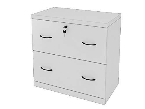Wood File Cabinets Lock (Z-Line Designs 2-Drawer White Lateral File, White)