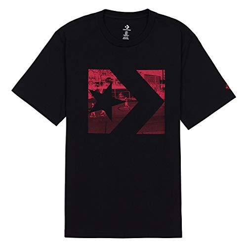 - Converse Men's Photo Fill Star Chevron Tee Black/Red 10017437-a02-001 (Size S)