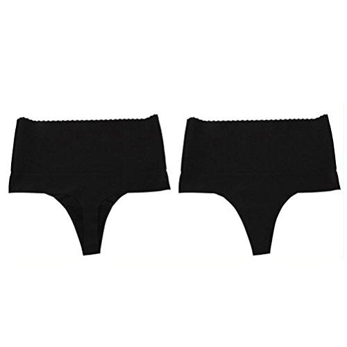 tummy Shaper Back LUOEM Size mutandine Underwear donna Intimo senza controllo nero vita T perizoma alta wnTxgvT