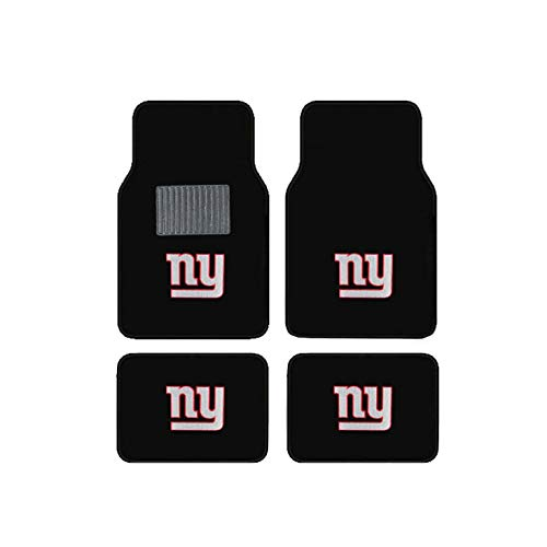New York Giants Embroidered Logo Carpet Floor Mats. Wow Logo on All 4
