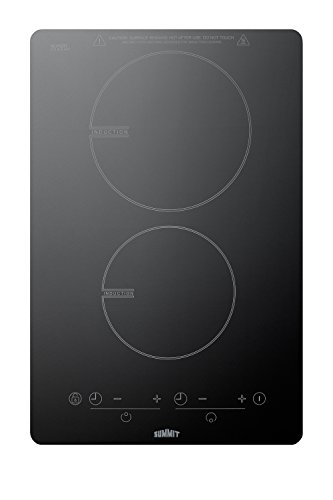 """Summit SINC2B120 115V 13.5"""" Induction Cooktop With Schott Gl"""