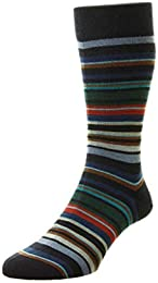 Best Price Men Mid Calf Quakers All Over Stripe Dress Socks