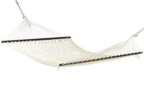 Caribbean Rope Hammock – 55 Inch – Soft-Spun Polyester Natural Cream