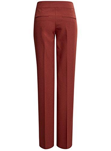 oodji Ultra Mujer Pantalones Clásicos con Pinzas Marrón (3100N)