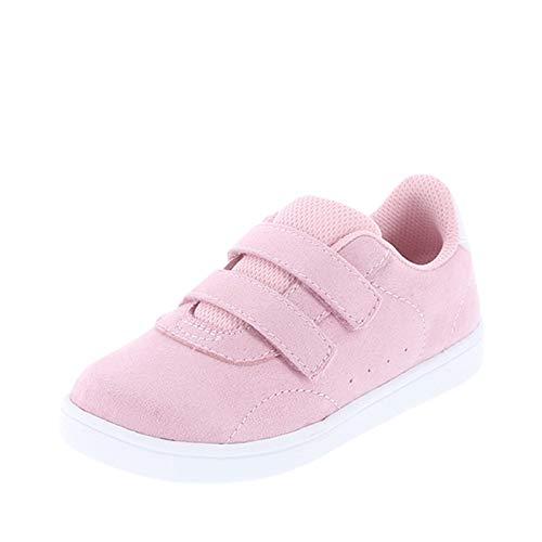 Zoe and Zac Pink Suede Kid's Toddler Relay Court Shoe 10 Regular]()