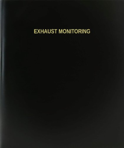 BookFactory® Exhaust Monitoring Log Book / Journal / Logbook - 120 Page, 8.5