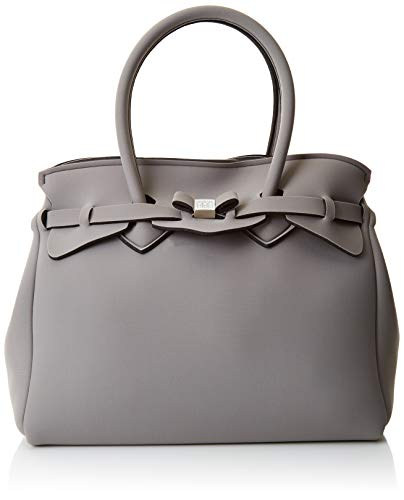 Sauvez mon sac Mlle, Borsa A Donna Mano, 34x29x18 cm (w X H L) Grigio / tortue