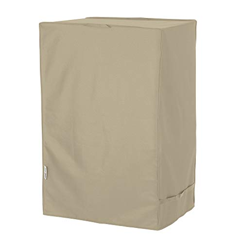 UNICOOK Outdoor Smoker Cover with Heavy Duty Waterproof Material, Grill Barbecue Cover for Most Masterbuilt 40 Inch Electric Smokers and More, 25''W x 17''D x 39''H, Desert Sand