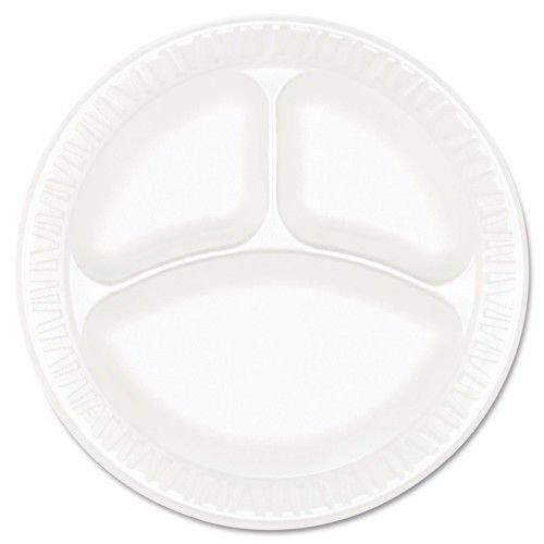 Foam 3 Compartment Plate (Concorde Foam Plate, 3-Comp, 9