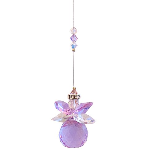 Fairy Godmother 20mm Violet Ball - Rainbow Maker - Crystal Suncatcher- Home, Living Room, Bedroom, Kitchen, Car Decoration - Porch Decor - Sun Catcher - Hangings Crystal Glass Ornament - Figurines ()