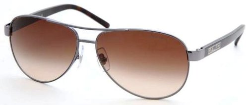 Ralph by Ralph Lauren Women's RA4004 Aviator Sunglasses, Grey,Grey Horn & Brown Gradient, 59 - Eyewear Lauren Ralph