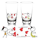 "BOLDLOFT Cute Couple Gifts ""You're Irresistible"" His & Hers Drinking Glasses-Wedding Gifts for the Couple,Valentines Day Gifts,Wedding Gifts for Bride and Groom,His and Hers Gifts,Anniversary Gifts"
