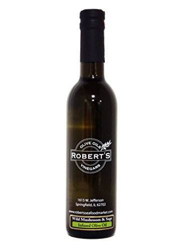 Robert's Extra Virgin Infused Olive Oil - Wild Mushroom and Sage (200ml)