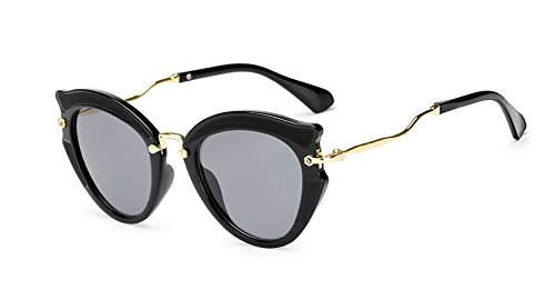 Frêne rond inspirées lunettes Lennon style polarisées vintage de du soleil en retro Noir cercle métallique xqqO4gF